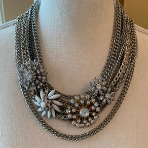 Stella & Dot mixed link statement necklace